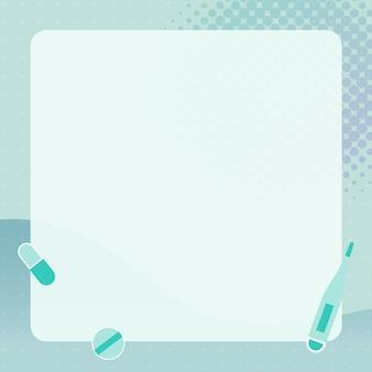 Fondo médico limpio con marco
