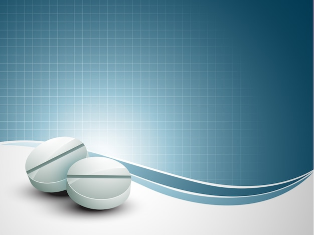 Fondo médico con pastillas