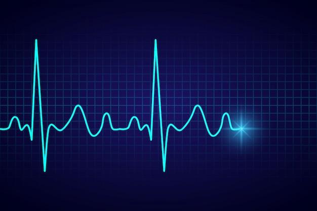 Fondo médico sanitario con pulso cardíaco ecg