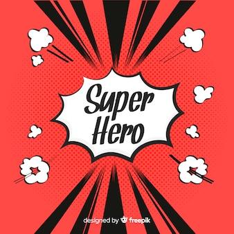 Fondo de medios tonos de superhero