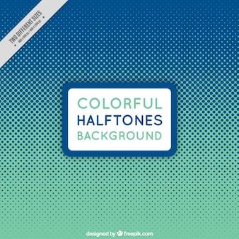 Fondo de medios tonos verde y azul