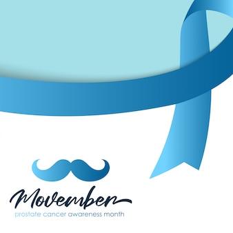 Fondo de mes de concientización sobre el cáncer de próstata movember