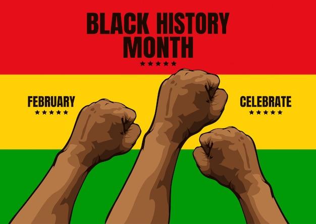 Fondo del mes de historia negra