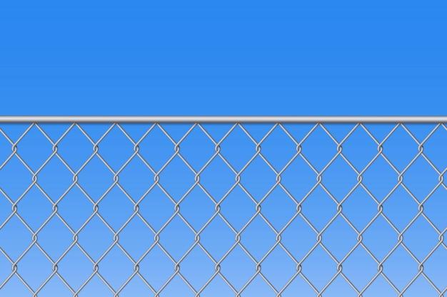 Fondo de metal de acero de malla de alambre de cerca de cadena.