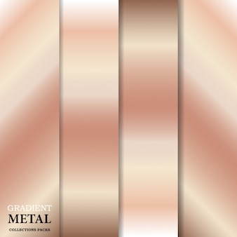 Fondo de metal dorado degradado