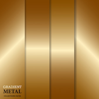 Fondo de metal dorado degradado