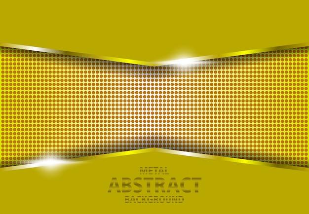 Fondo de metal gradiente de oro 3d