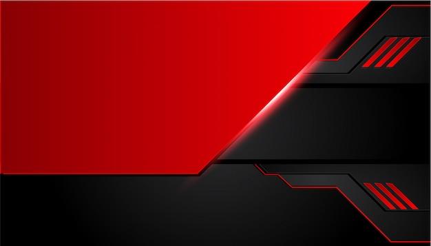 Fondo de metal negro y rojo.