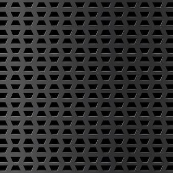Fondo de metal plateado con agujero y reflejo. rejilla de cromo realista. diseño de superficie industrial con textura. placa de acero. ilustración