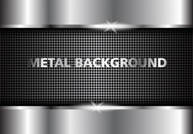 Fondo metal plateado, plata abstracta oscura.