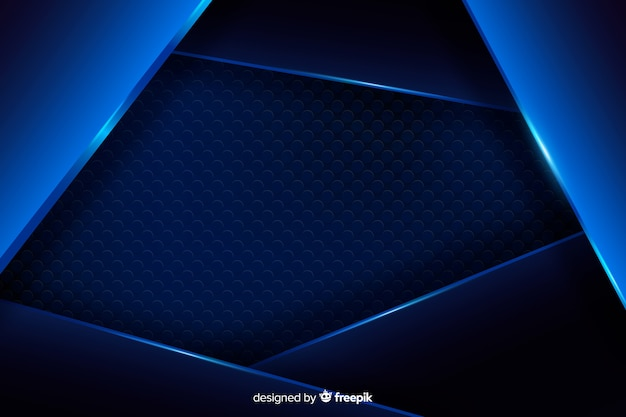 Fondo metálico azul abstracto con la reflexión