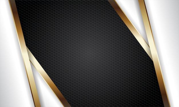 Fondo metálico negro y dorado