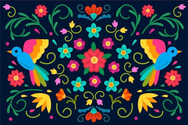 Fondo mexicano multicolor