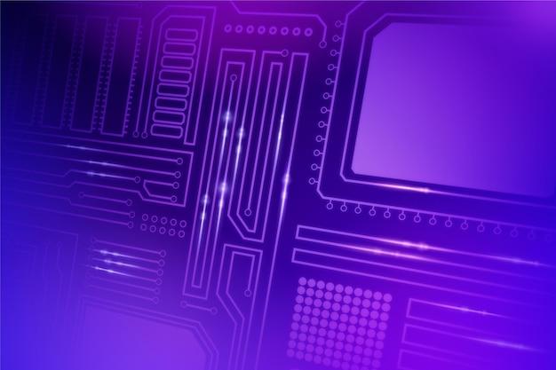 Fondo de microchip de computadora creativa