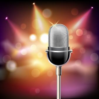 Fondo de micrófono retro