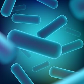 Fondo microscópico de bacterias robióticas.