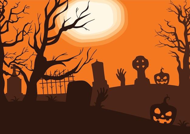 Fondo de miedo de hallowen