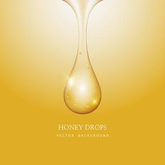 Fondo de miel y goteo de miel