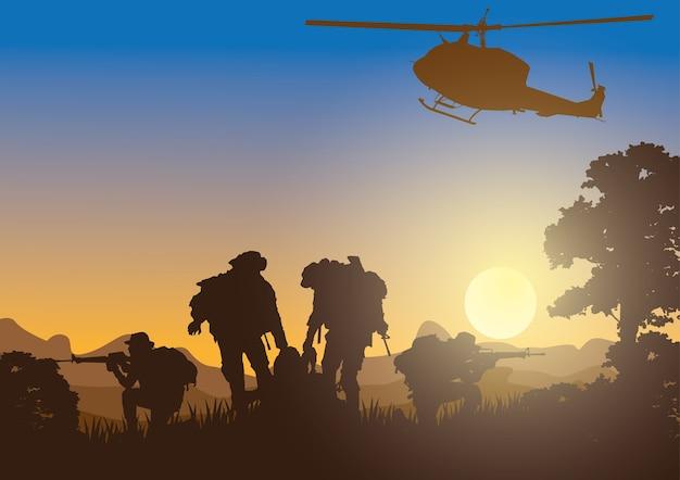 Fondo militar, ejército.