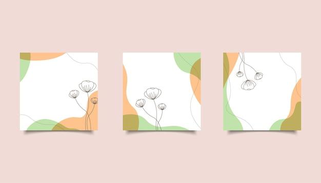 Fondo minimalista abstracto para publicación de instagram en redes sociales
