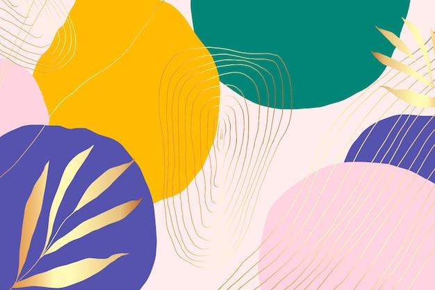 Fondo minimalista dibujado a mano con hojas