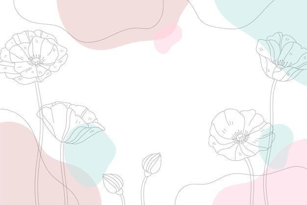 Fondo minimalista dibujado a mano