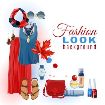 Fondo de la mirada de la moda