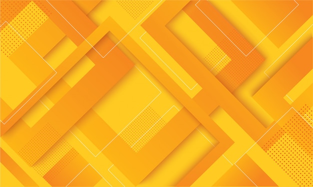 Fondo de moda moderno degradado cuadrado amarillo
