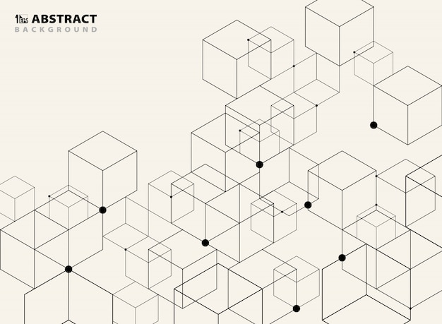 Fondo modelo geométrico negro simple abstracto.