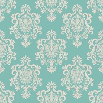 Fondo del modelo inconsútil del damasco del vector. clásico lujo antiguo ornamento de damasco, real victoriana textura transparente para papeles pintados, textiles, envoltura. plantilla barroca floral exquisita.