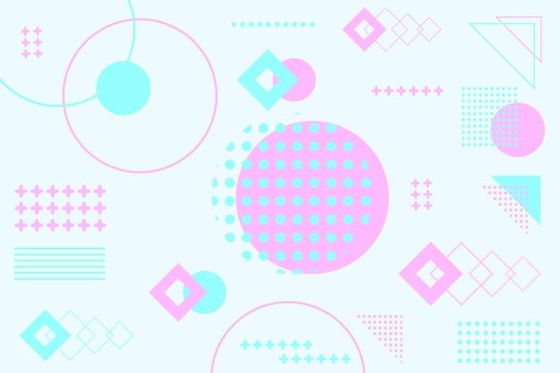 Fondo de modelos geométricos planos
