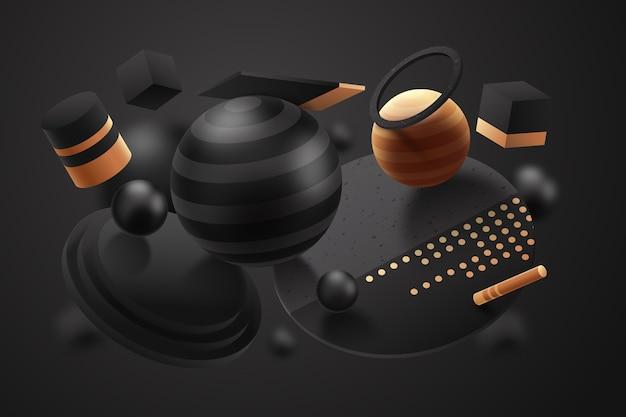 Fondo de modelos con textura abstracta de efecto 3d