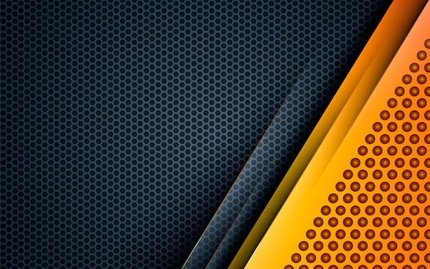 Fondo moderno abstracto amarillo