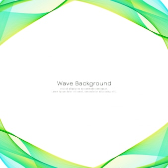 Fondo moderno abstracto colorido de la onda