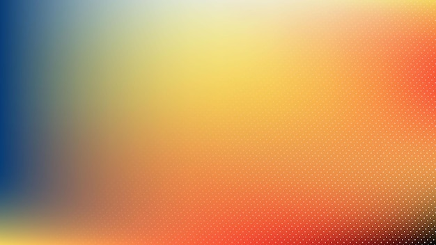 Fondo moderno abstracto con elemento de semitono degradado de color pastel azul rojo naranja y efecto de desenfoque