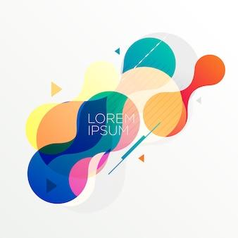 Fondo moderno abstracto formas coloridas