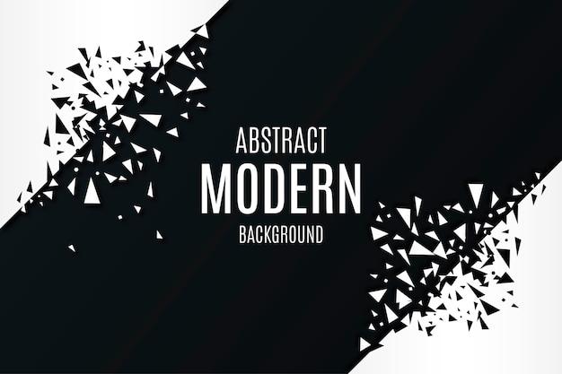 Fondo moderno abstracto con formas poligonales rotas