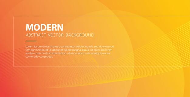 Fondo moderno abstracto naranja curva con banner de líneas onduladas y elegante cartel de telón de fondo de onda