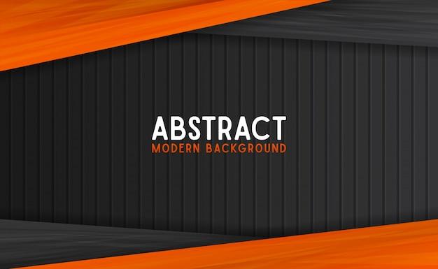 Fondo moderno abstracto negro y naranja
