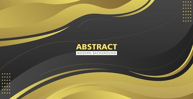 Fondo moderno abstracto negro y oro
