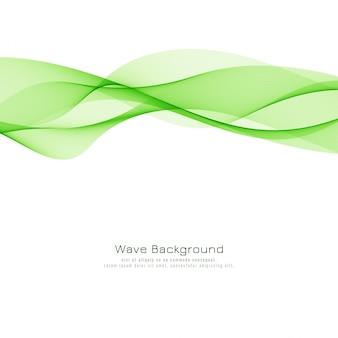 Fondo moderno abstracto de la onda verde
