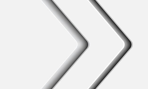 Fondo moderno abstracto de la sombra de la flecha blanca