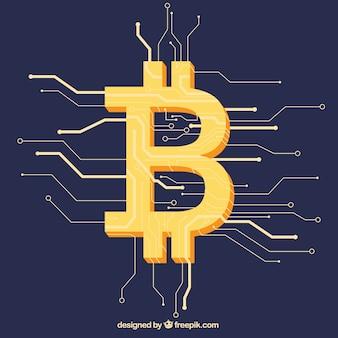 Fondo moderno de bitcoin