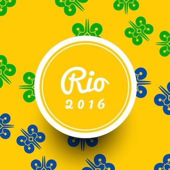 Fondo moderno de colores de brasil