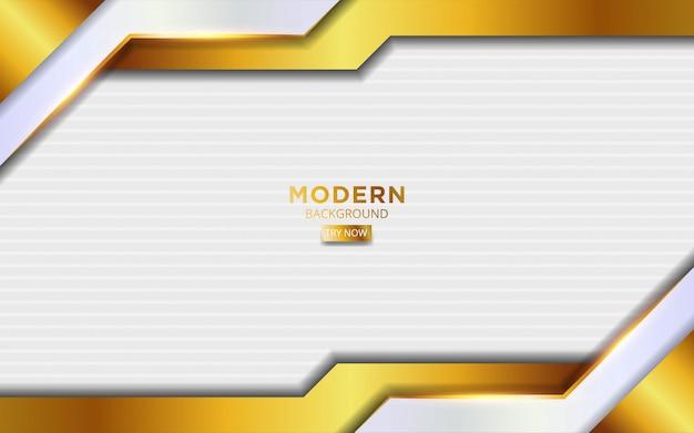 Fondo moderno de contracción de dios y blanco con líneas doradas