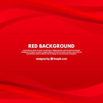Fondo moderno con curvas rojas