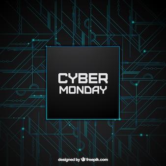 Fondo moderno de software de lunes cibernético
