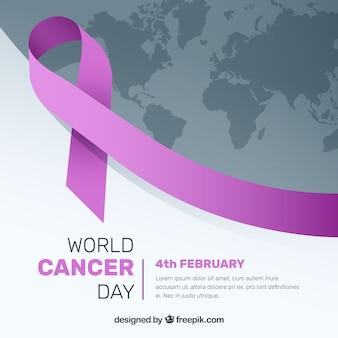 Fondo moderno para el día mundial contra el cáncer