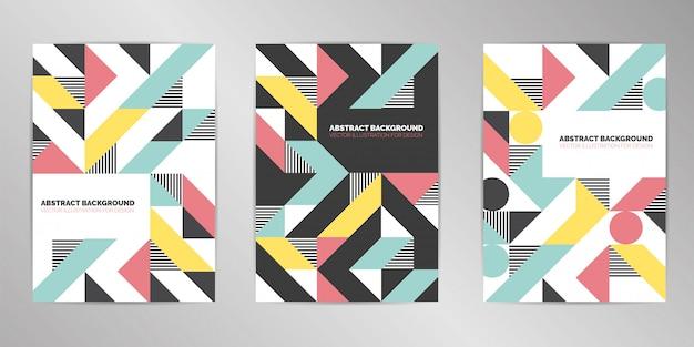 Fondo moderno de diseño de cubierta set formato a4