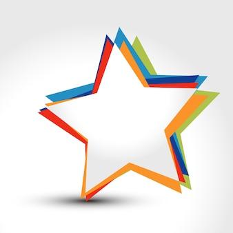 Fondo moderno con diseño de estrella